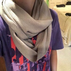 Grey infinity wrap scarf